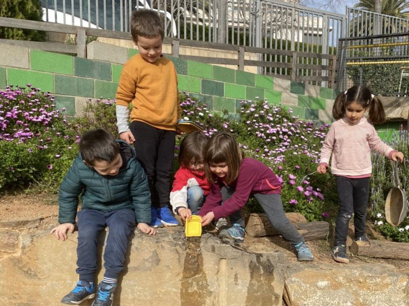 Escola Solc Barcelona - Salt d'aigua