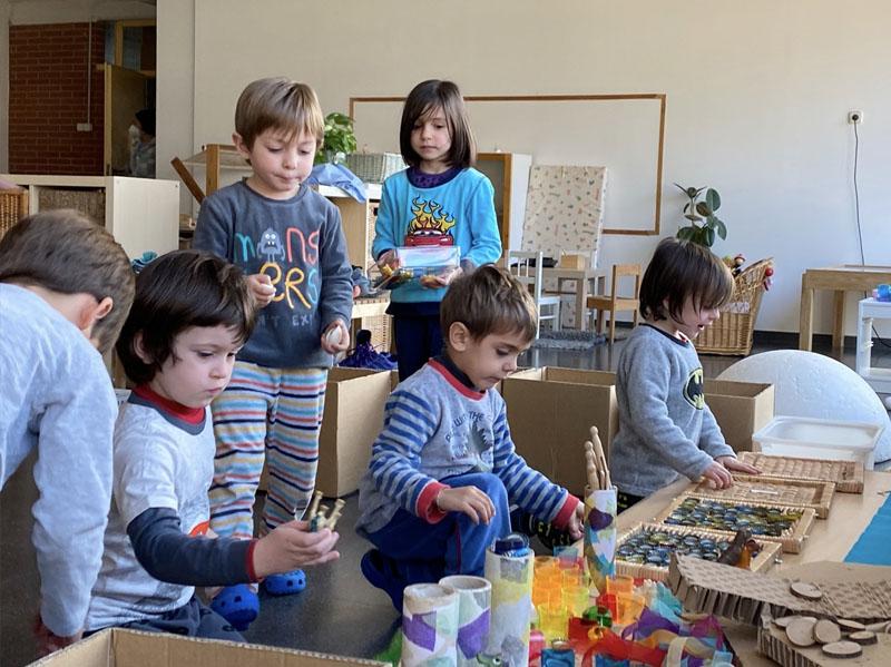 Escola Solc Barcelona - Taller de construccions